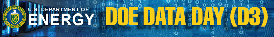 "DOE logo with text of ""DOE DATA DAY (D3)"" in all caps"