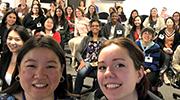 Group selfie of WiDS attendees