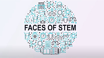 graphic showing Faces of STEM logo