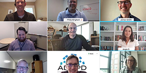 screen shot of 3x3 video chat of ADAPD team members