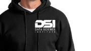 hoodie sweatshirt branded with DSI logo