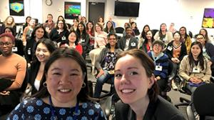 Group selfie of WiDS attendees