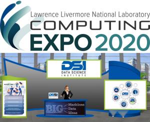 Computing expo logo atop a screen shot of the DSI virtual booth