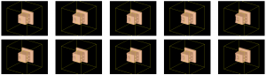 ten frames of sample volume sequences in D4DCT-DFM given a single MPM deformation data