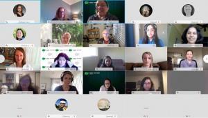 screen shot of 5x5 video chat panels