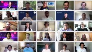 5x5 video chat screens of Challenge participants