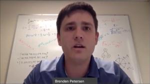 Brendan presenting in video chat